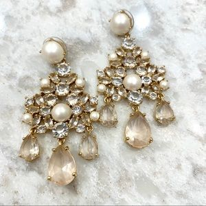 Kate Spade ♠️ pearl & crystal chandelier earrings